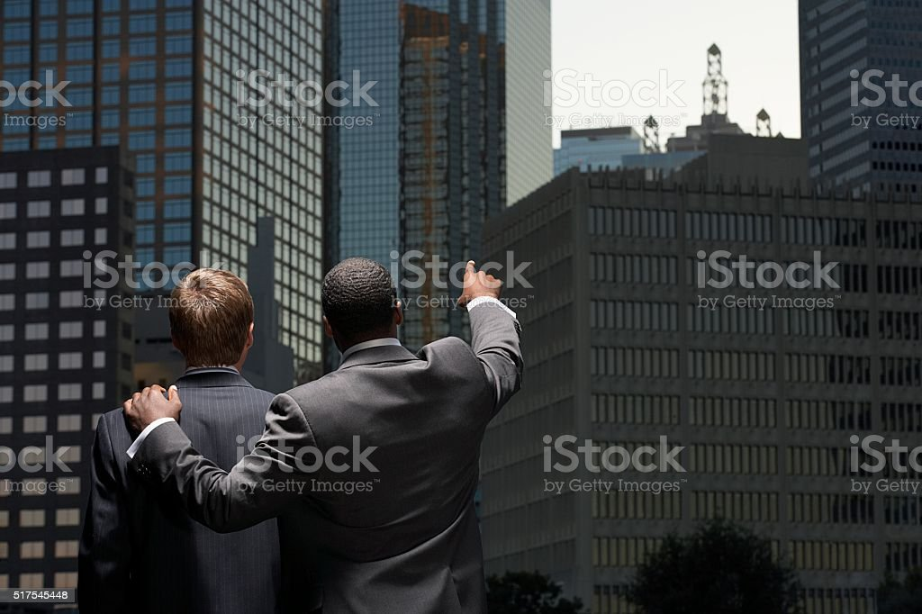 Businessmen in a city stock photo