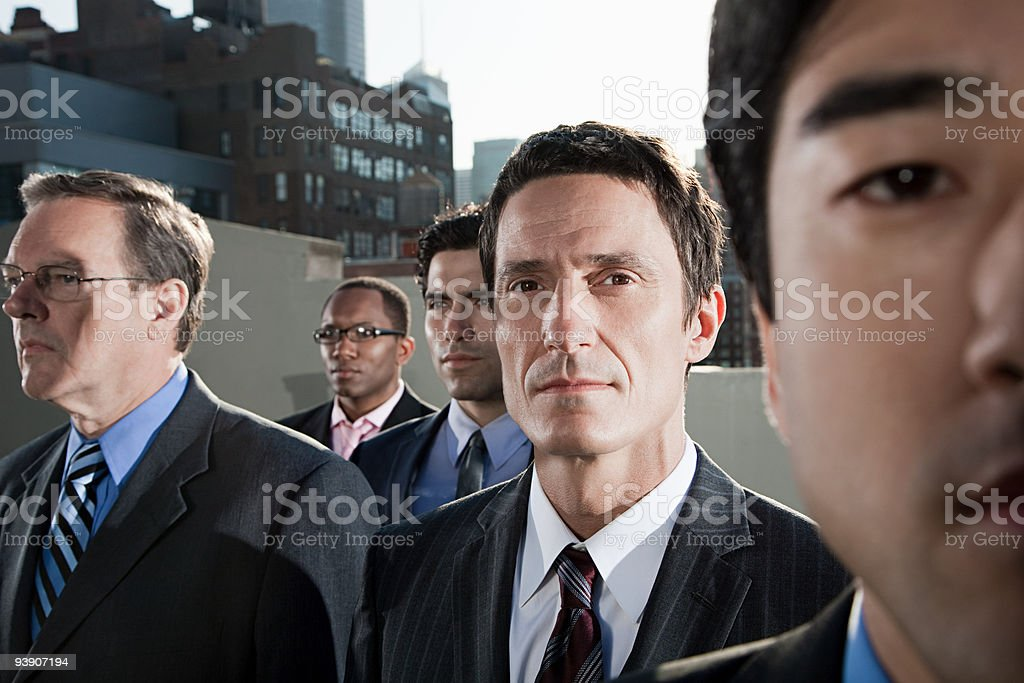 Businessmen in city royalty-free stock photo