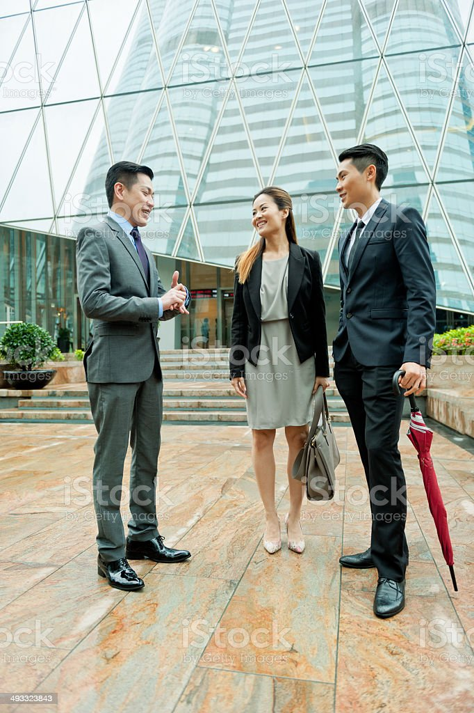 Businessmen in Hong Kong, China. royalty-free stock photo