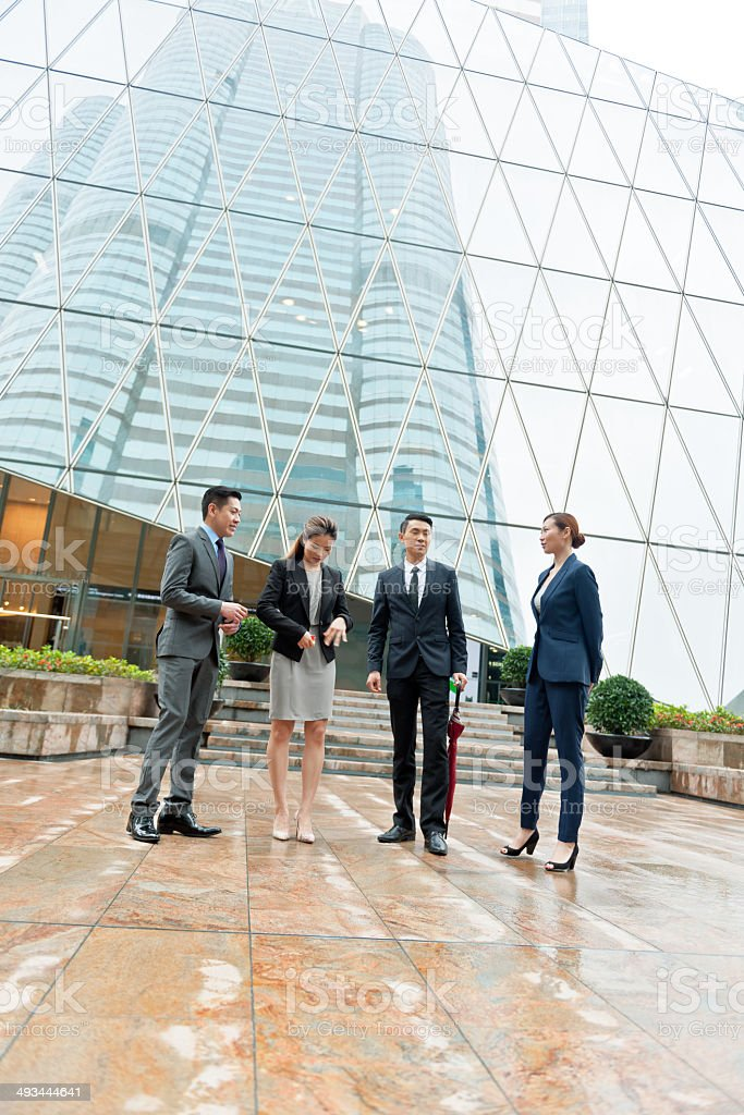 Businessmen in Hong Kong, China royalty-free stock photo