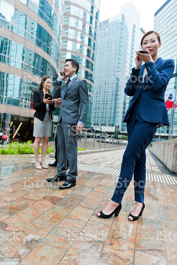 Businessmen in Hong Kong, China royalty-free stock photo