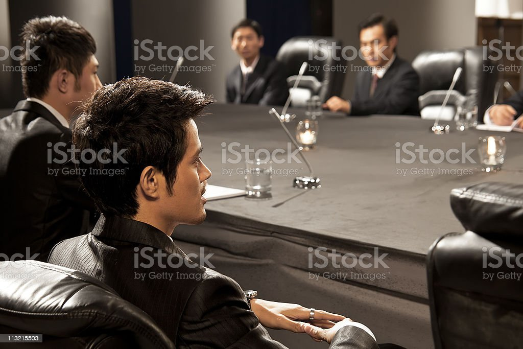 businessmen in meeting royalty-free stock photo