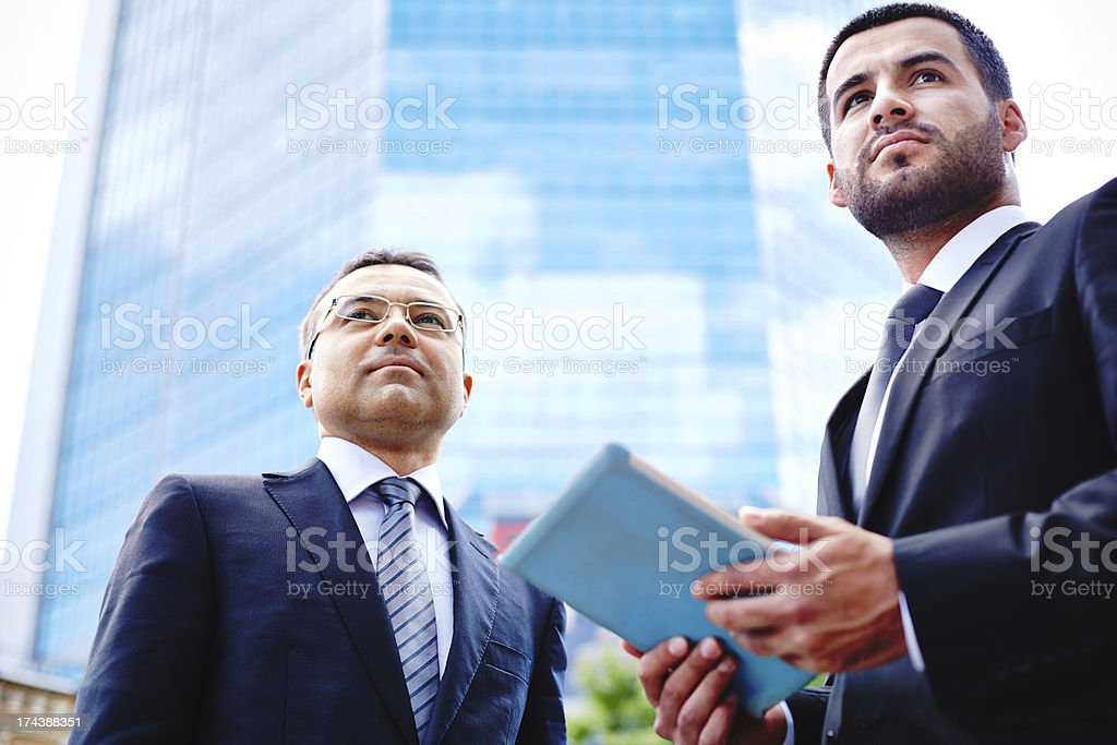 Businessmen in the city royalty-free stock photo