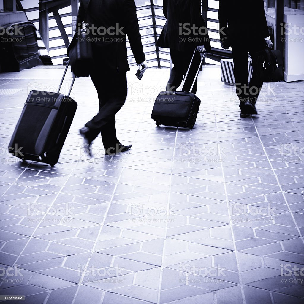 Businessmen on the move royalty-free stock photo