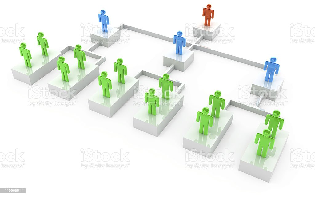 Businessmen organization chart stock photo