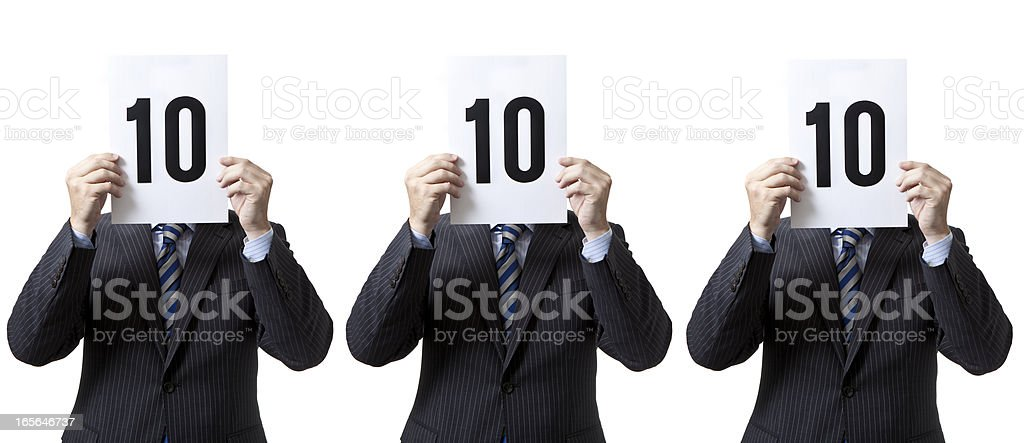 Businessmen - Perfect Score! royalty-free stock photo