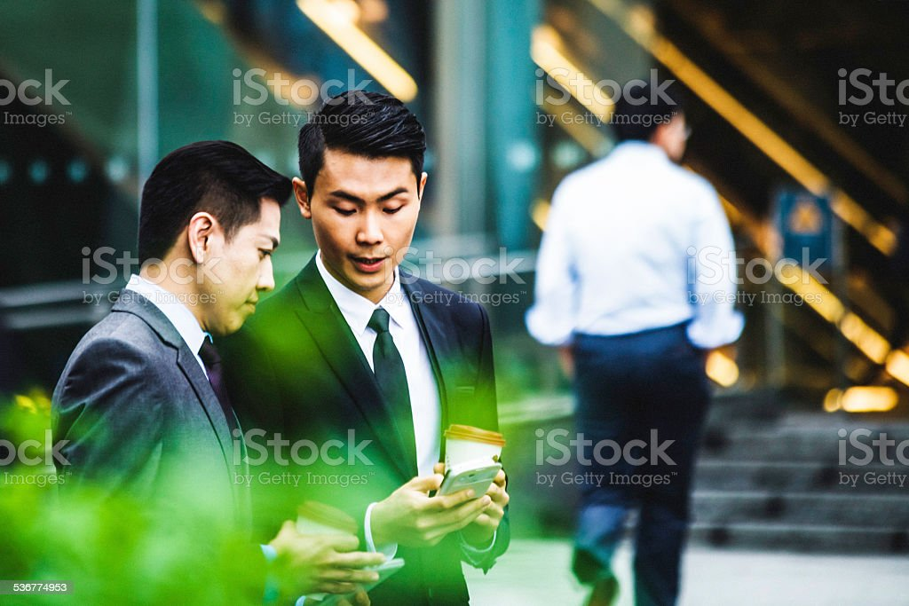 Businessmen. stock photo