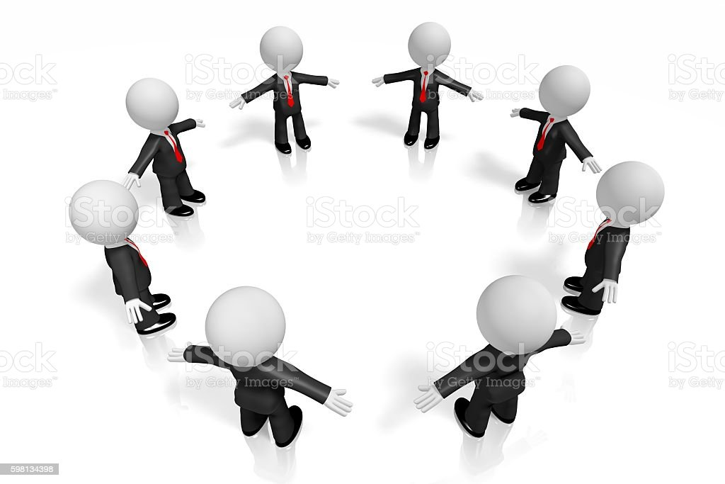3D businessmen stock photo