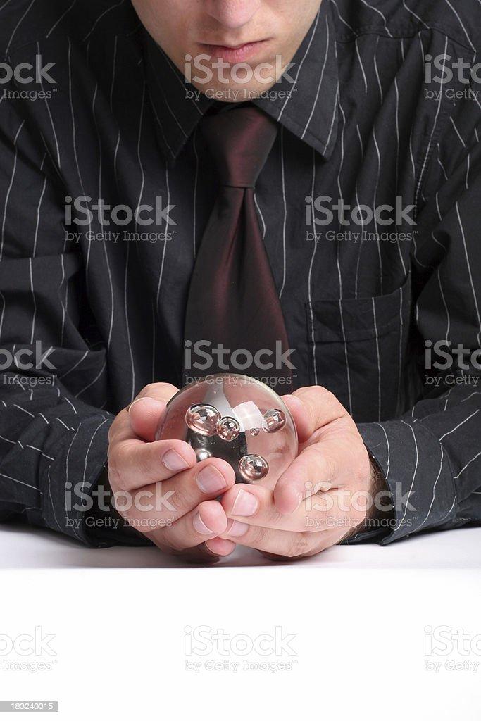 Businessmen reading future royalty-free stock photo
