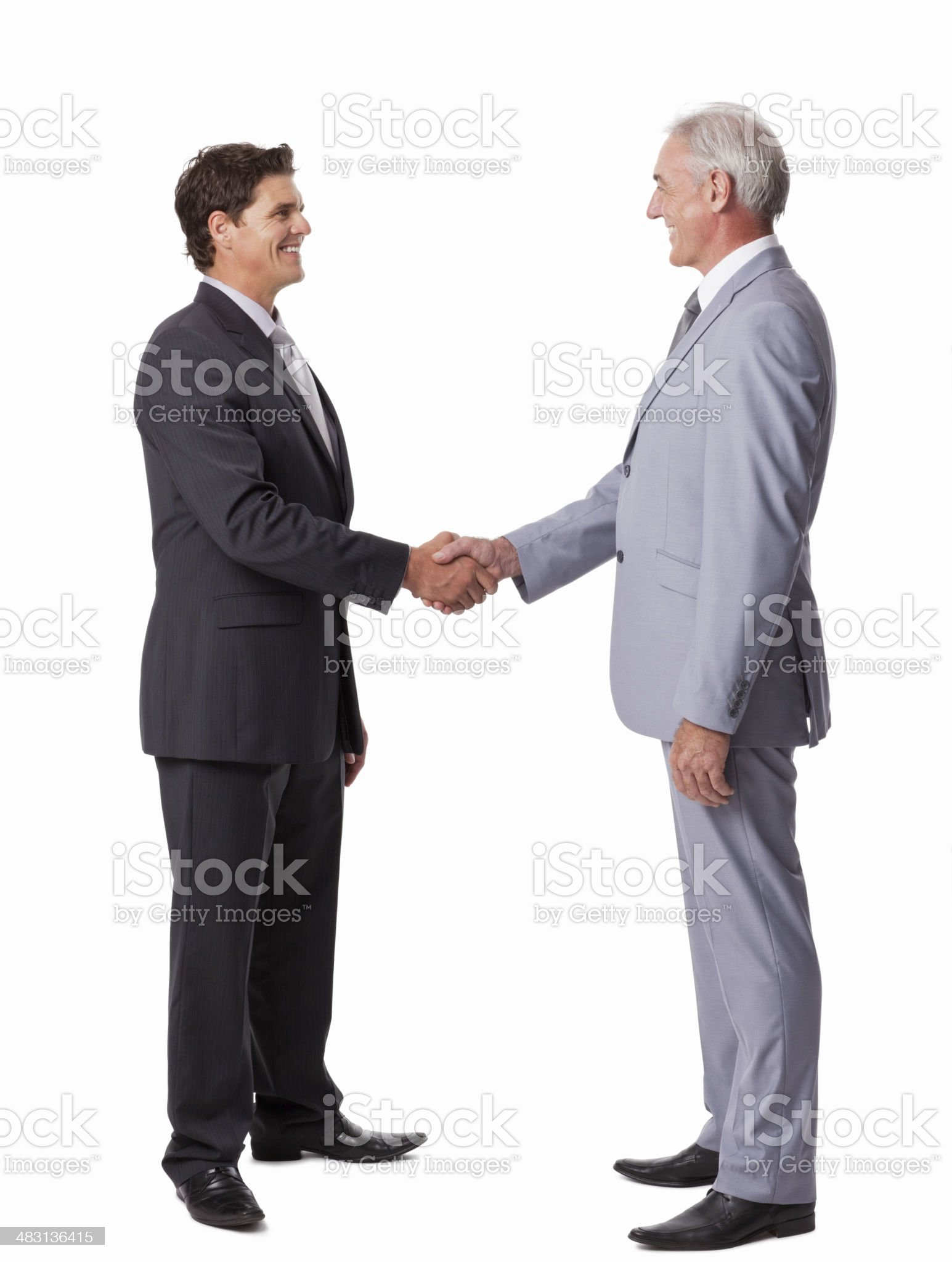 Businessmen Shaking Hands - Isolated royalty-free stock photo