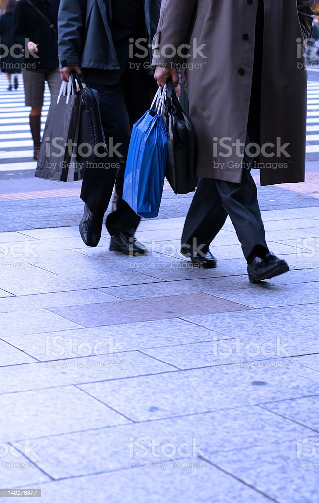 Businessmen shopping royalty-free stock photo