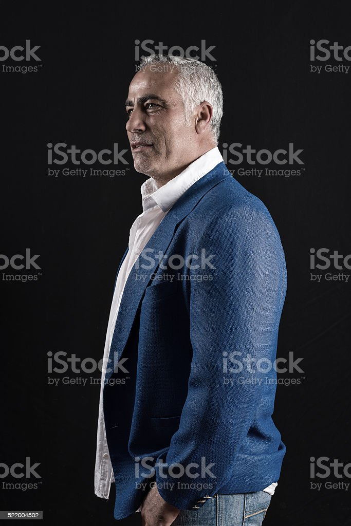 businessmen standing  in studio stock photo