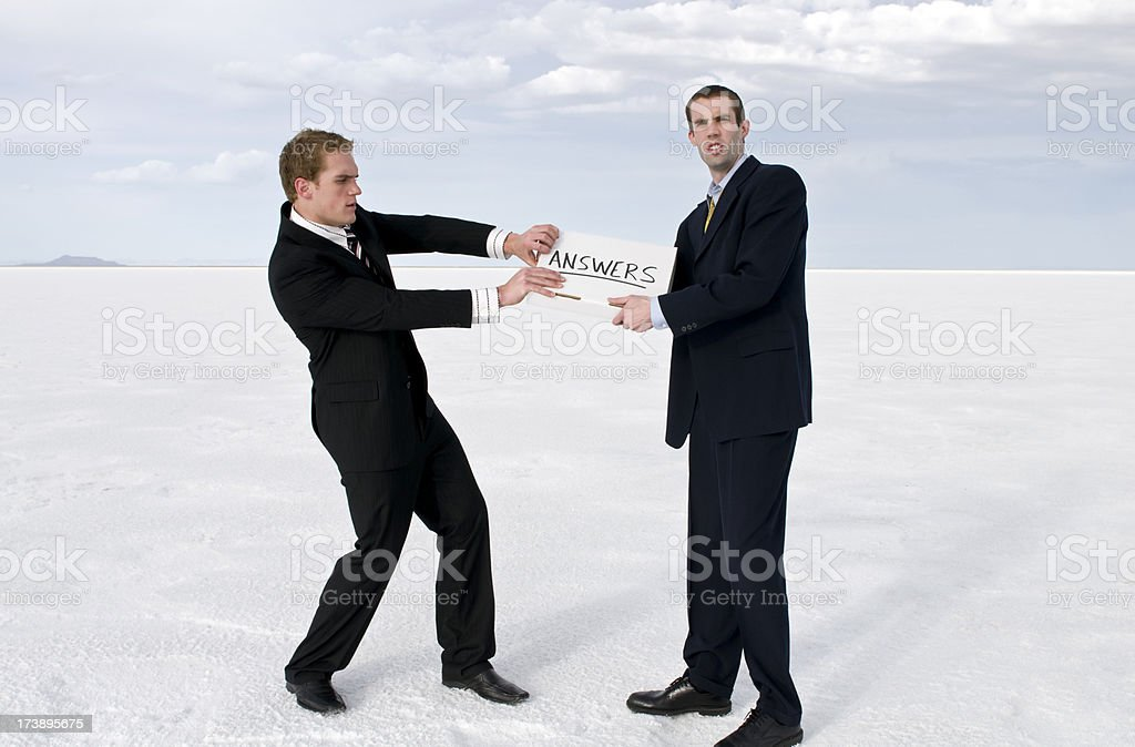 Businessmen Struggle royalty-free stock photo