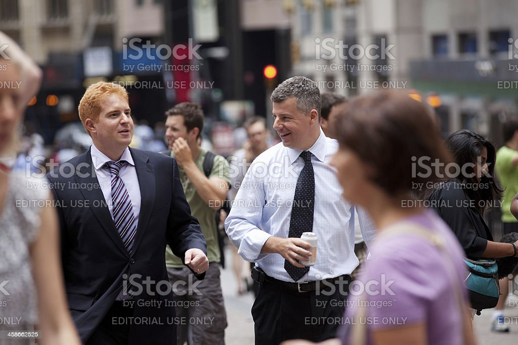 Businessmen talking royalty-free stock photo