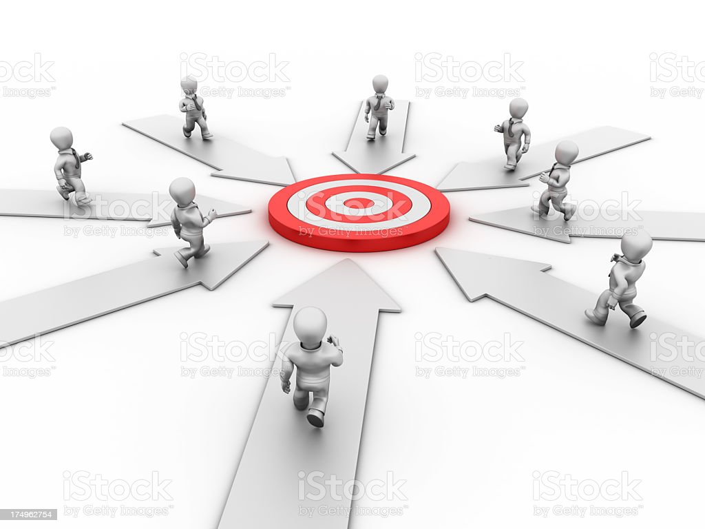 Businessmen Target royalty-free stock photo