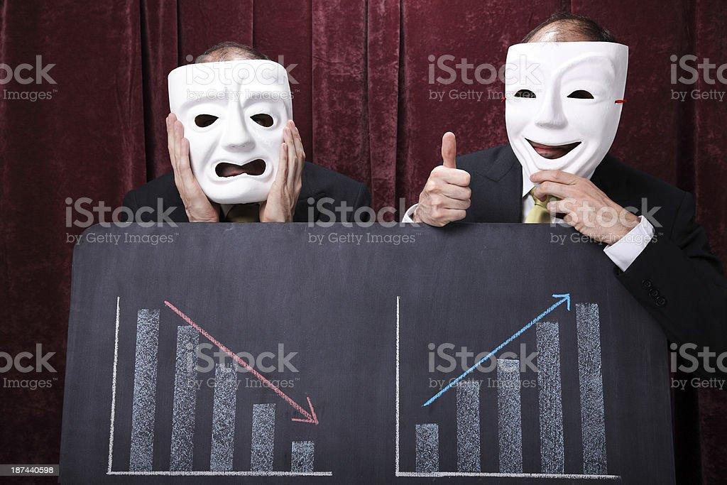 Businessmen Tragicomedy stock photo