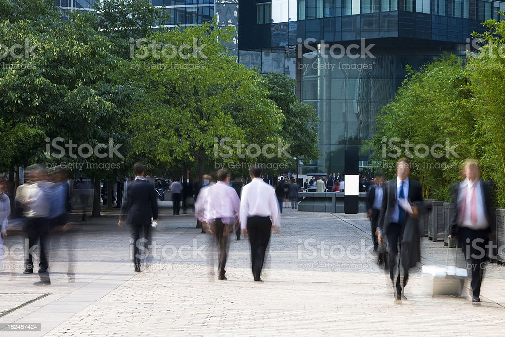 Businessmen Walking in Financial District stock photo