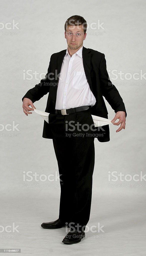 businessmen with nothing (2) stock photo