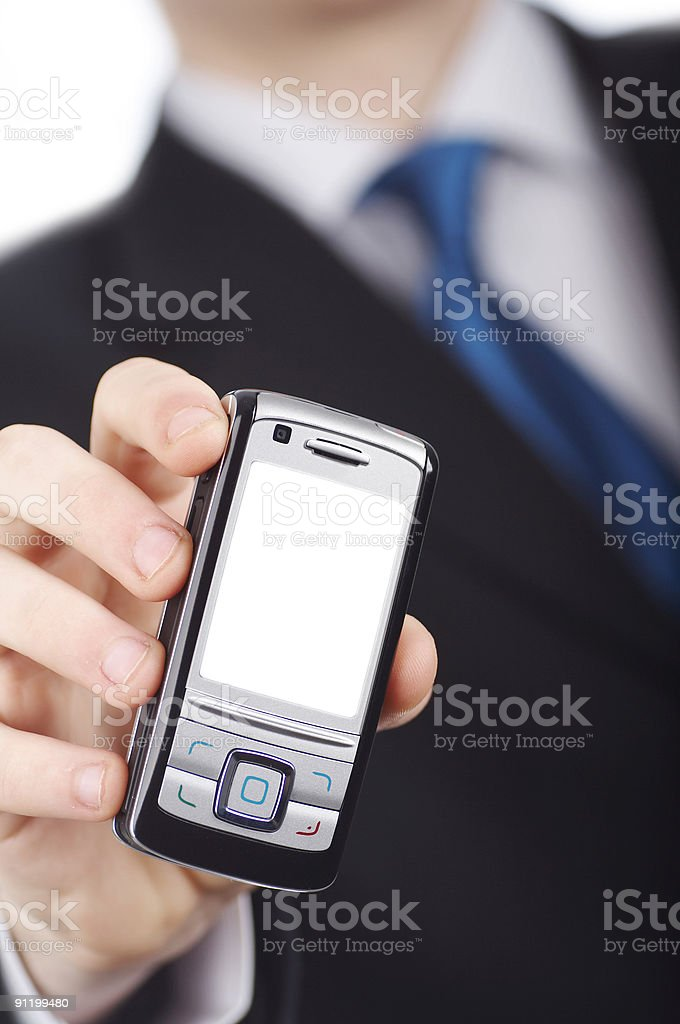 businessmen with phone #2 royalty-free stock photo