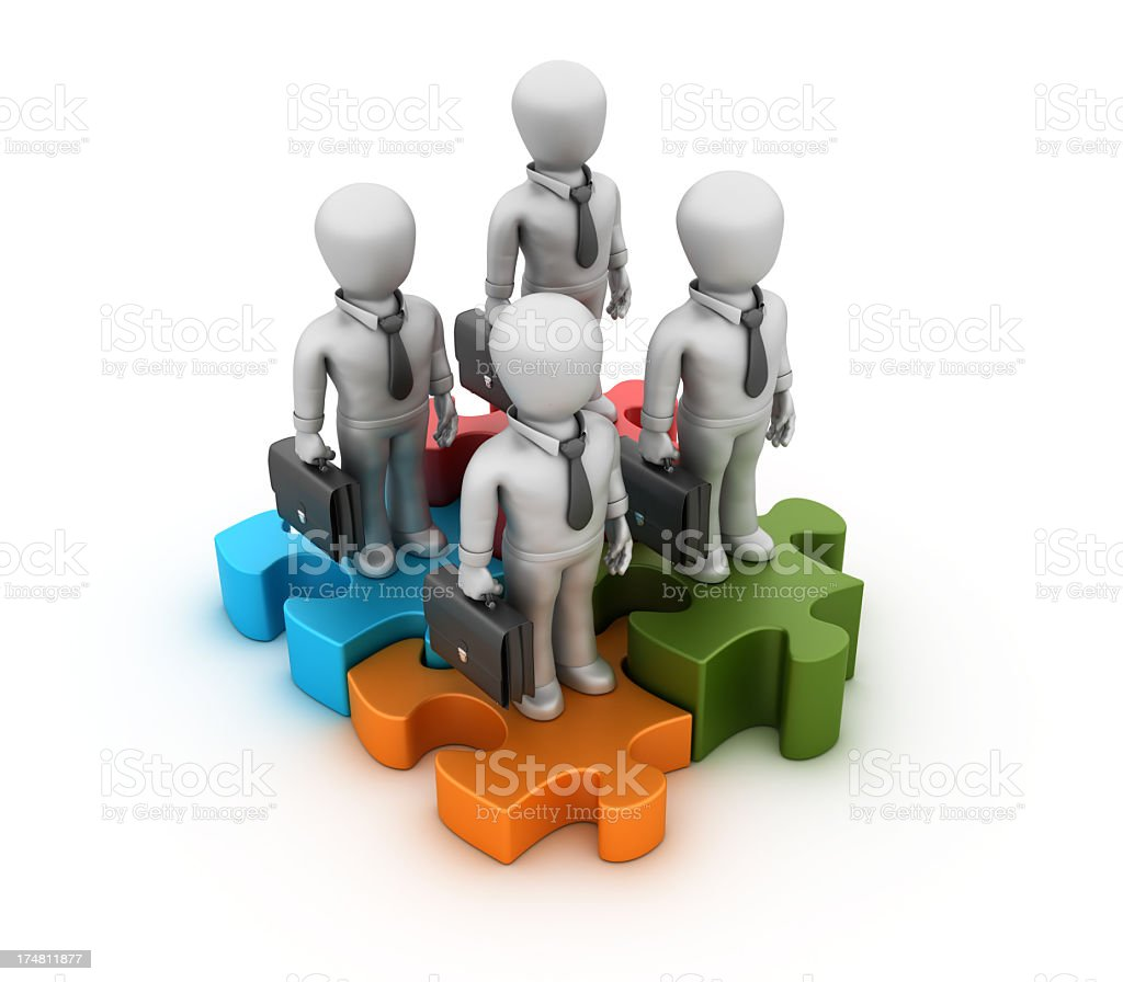 Businessmen with Puzzle royalty-free stock photo
