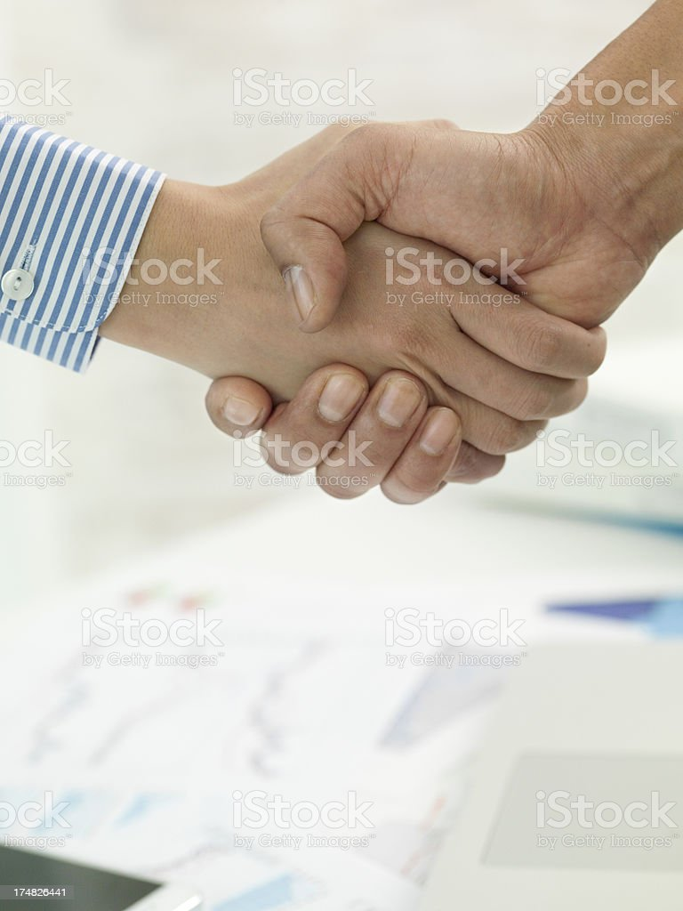 Businessmen with whom the opinion was in harmony royalty-free stock photo