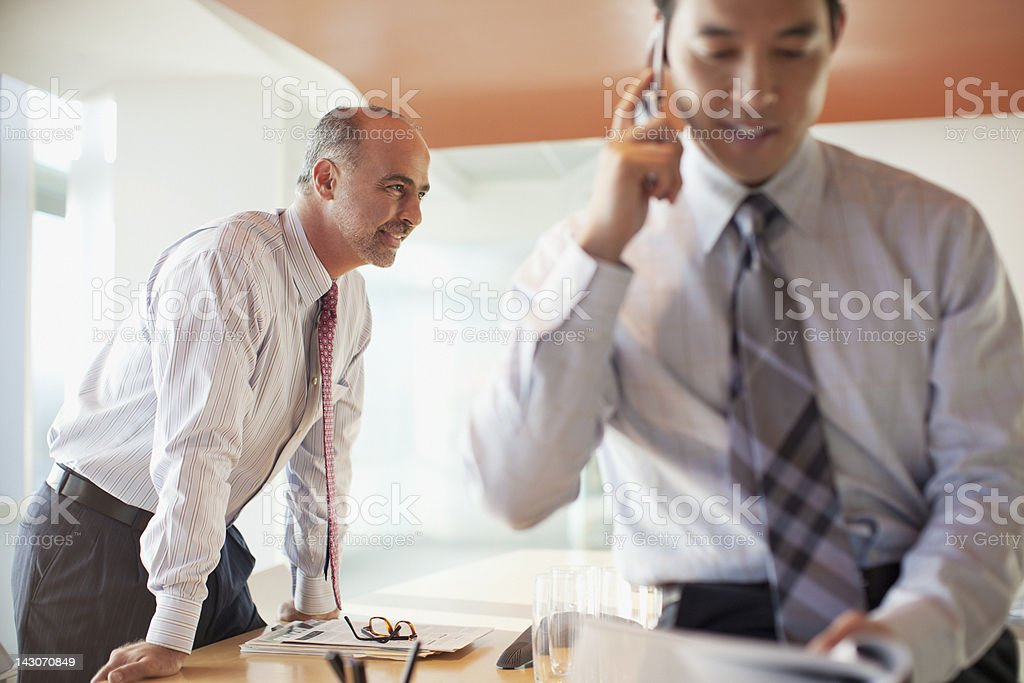 Businessmen working in office royalty-free stock photo
