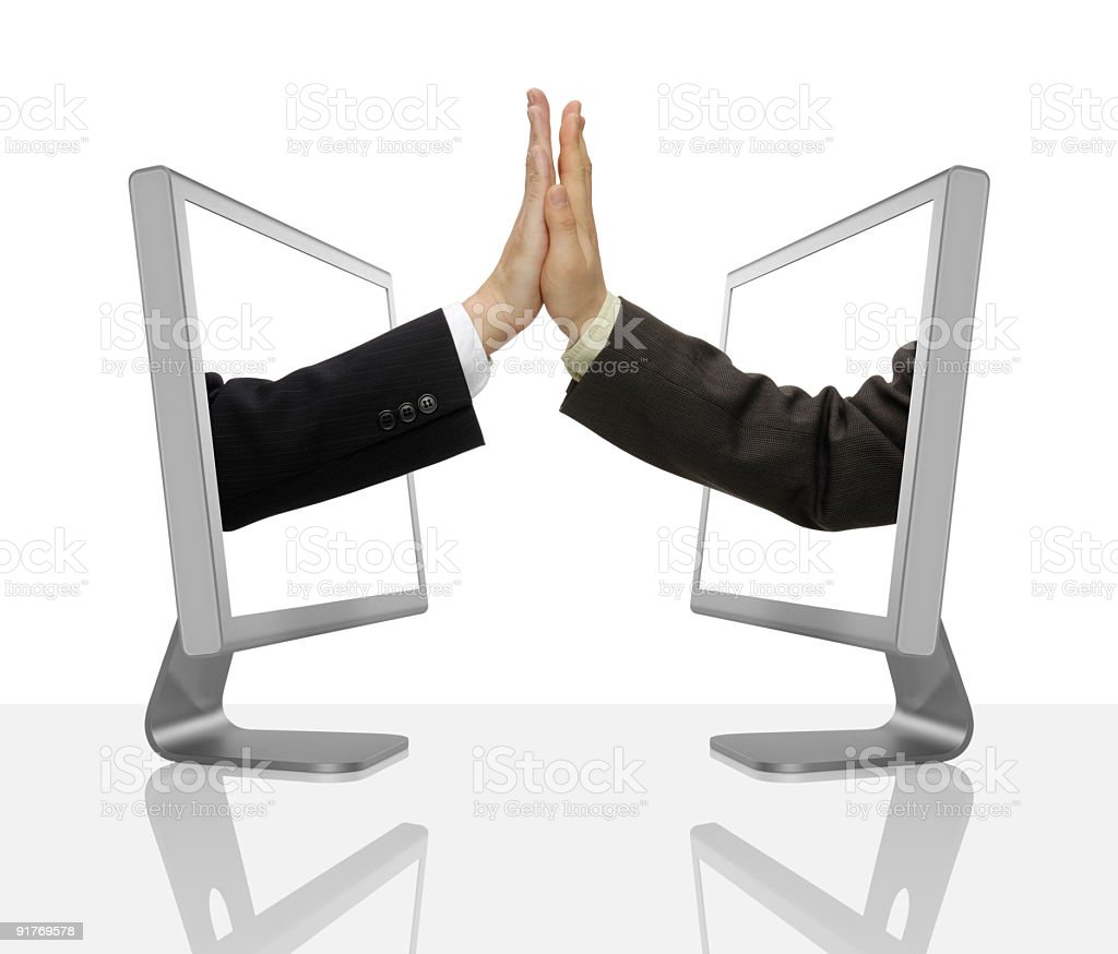 Businessmens Hands royalty-free stock photo
