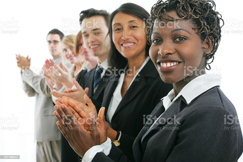 Businesspeople : approved II stock photo