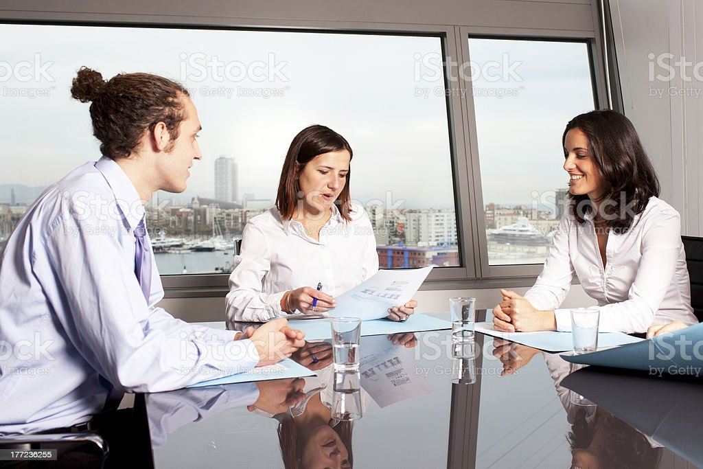 businesspeople at business meeting royalty-free stock photo
