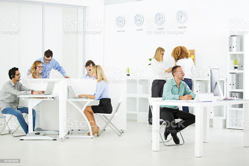 Businesspeople At Call Center. royalty-free stock photo