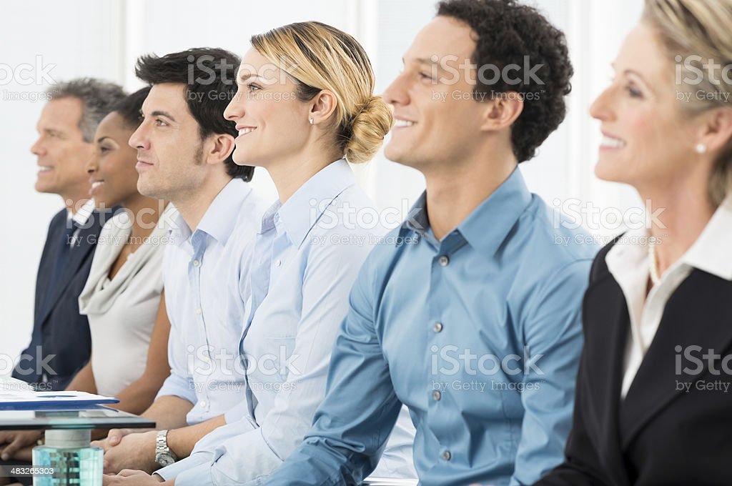 Businesspeople At Conference stock photo