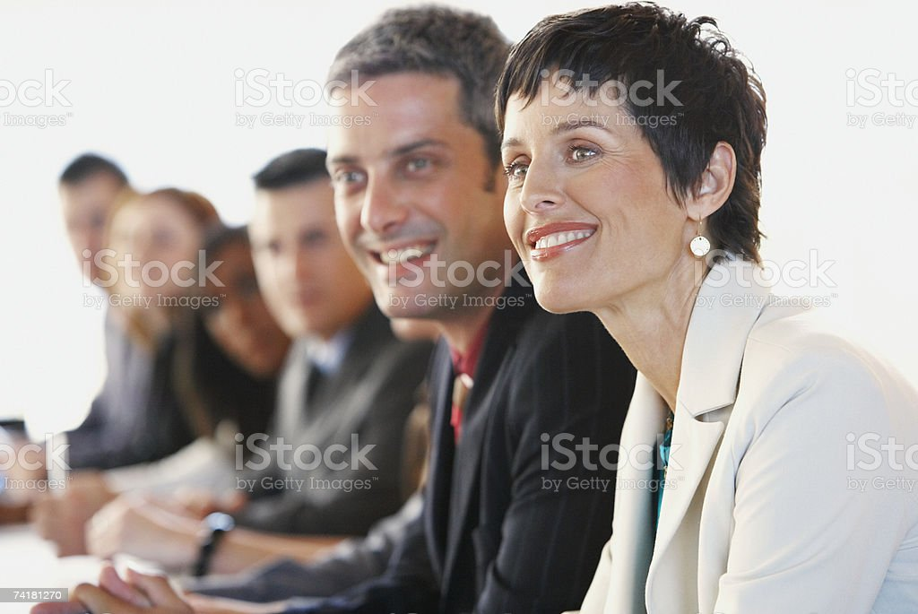 Businesspeople at meeting royalty-free stock photo
