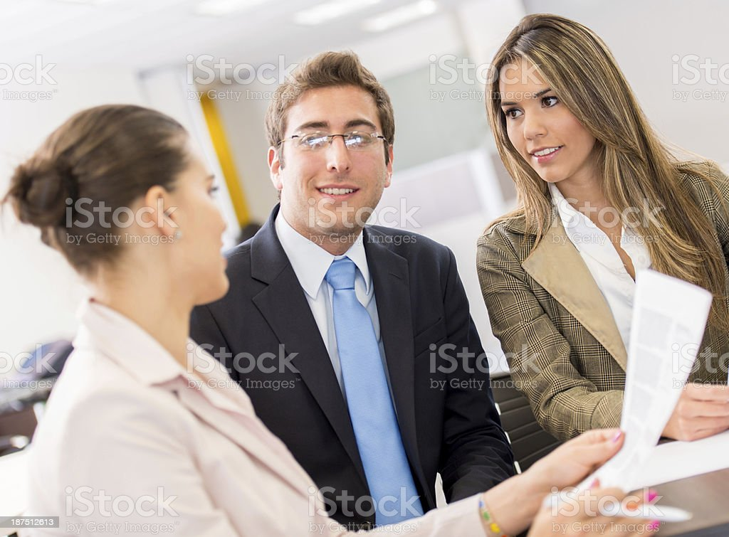 Businesspeople at the meeting royalty-free stock photo