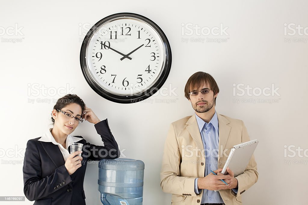Businesspeople at Water Cooler stock photo