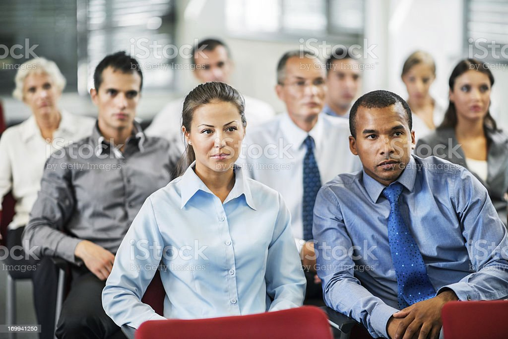 Businesspeople attending the staff meeting royalty-free stock photo
