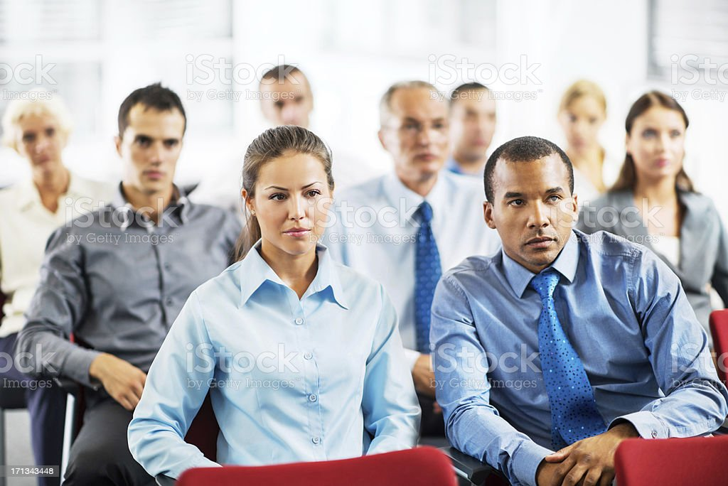Businesspeople attending the staff meeting. royalty-free stock photo
