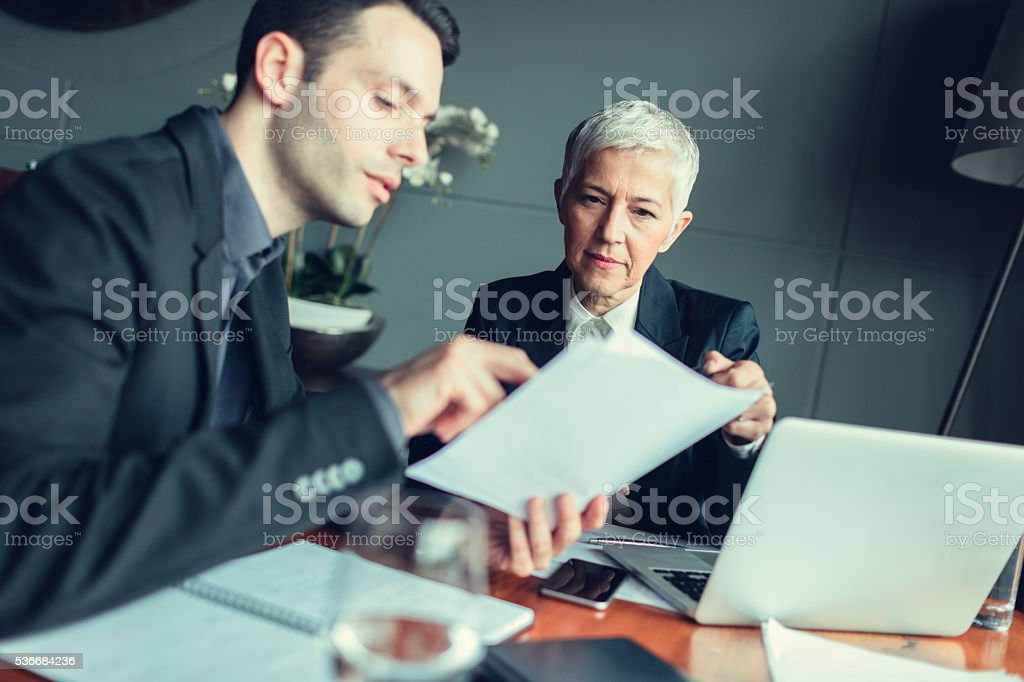 Businesspeople Collaborate. stock photo