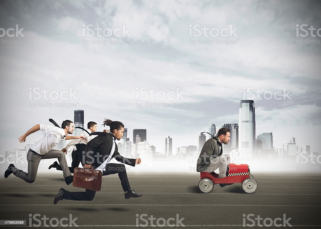 Businesspeople competing stock photo