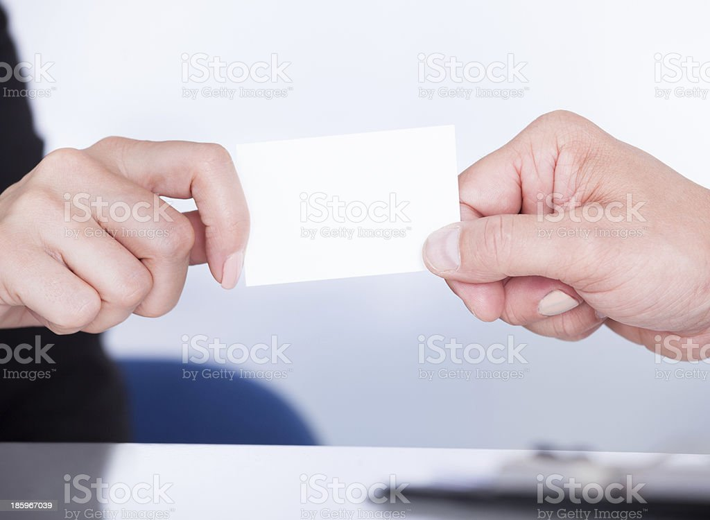Businesspeople Exchanging Visiting Card royalty-free stock photo