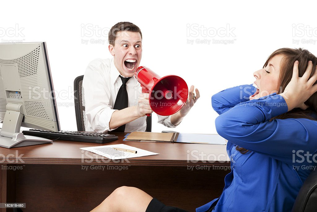 Businesspeople Freaking Out royalty-free stock photo