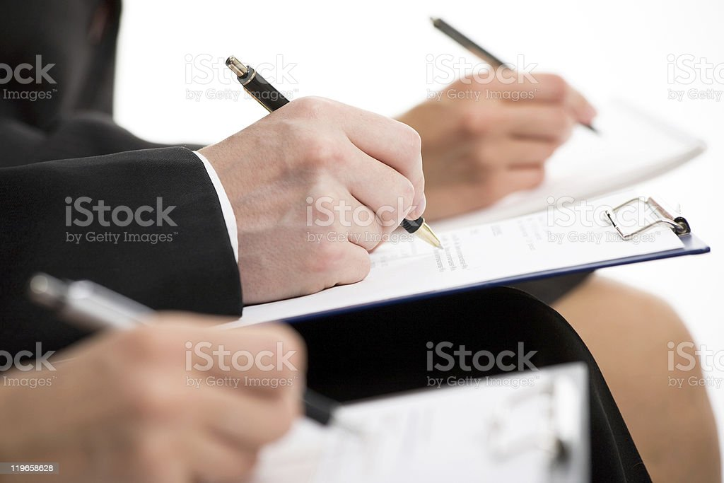 Businesspeople hands royalty-free stock photo