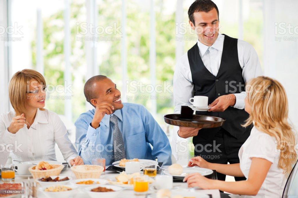 Businesspeople having a coffee break royalty-free stock photo
