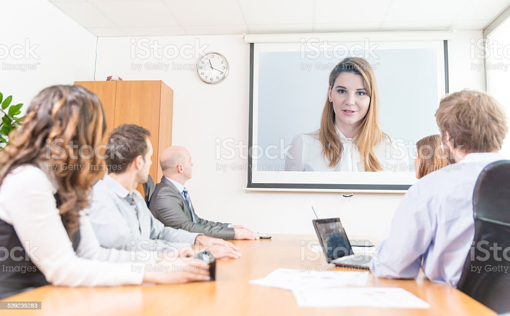 Businesspeople Having A Conference stock photo