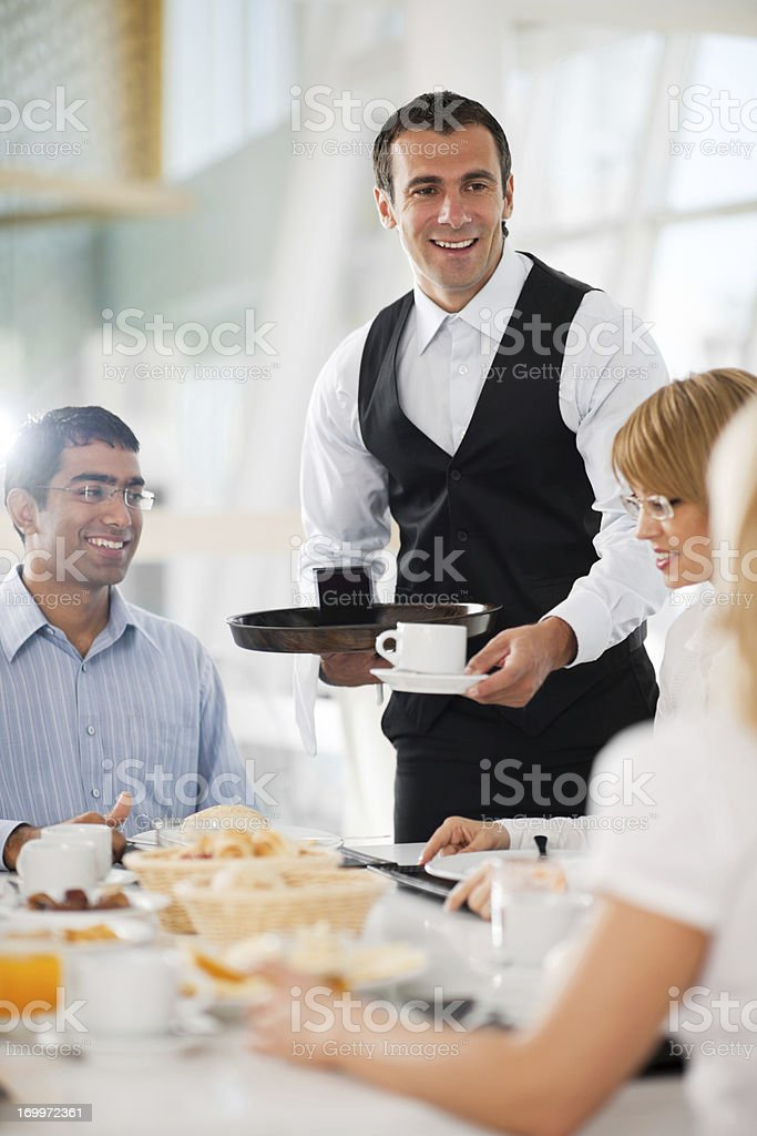 Businesspeople having a lunch break. royalty-free stock photo