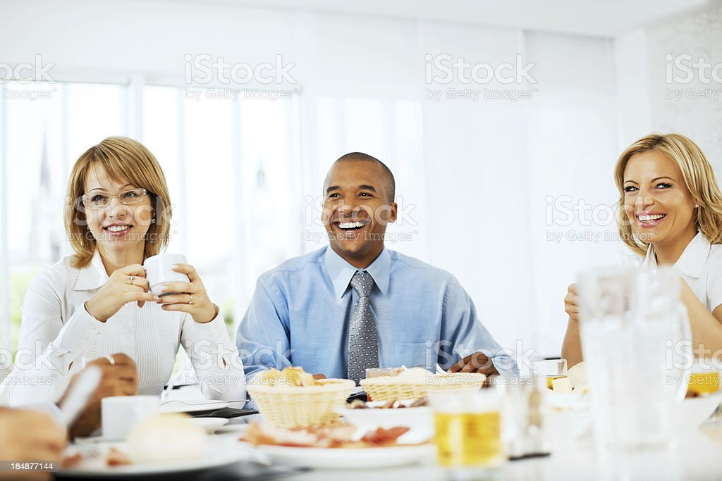Businesspeople having a lunch. royalty-free stock photo