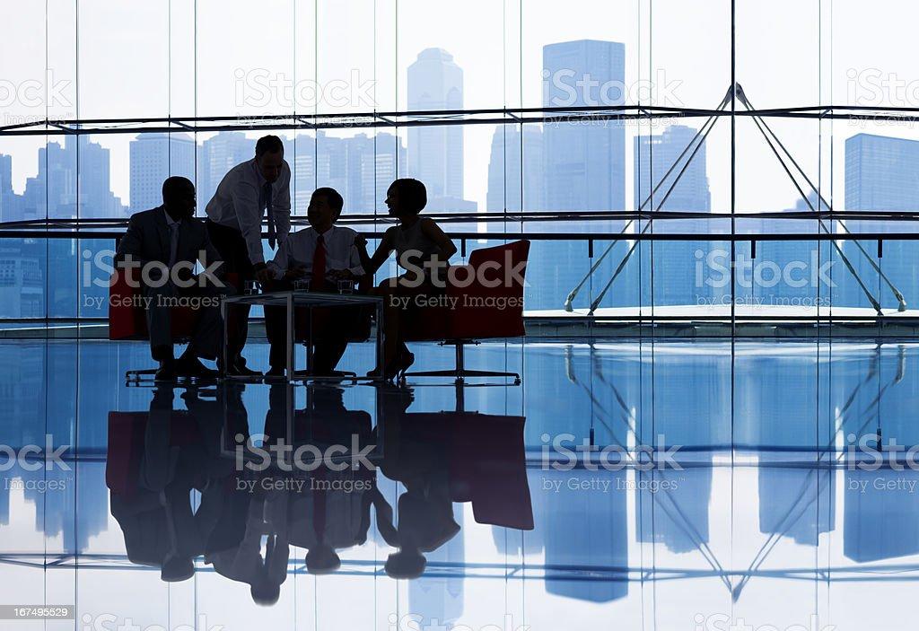 Businesspeople having meeting stock photo