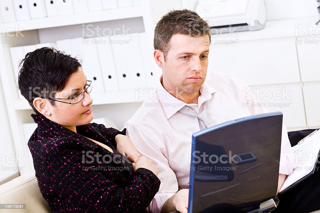Businesspeople having problem royalty-free stock photo