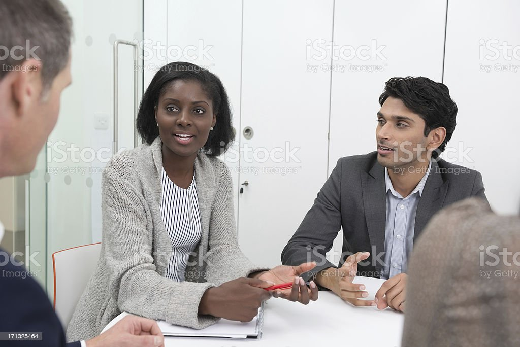 Businesspeople In a Discussion royalty-free stock photo