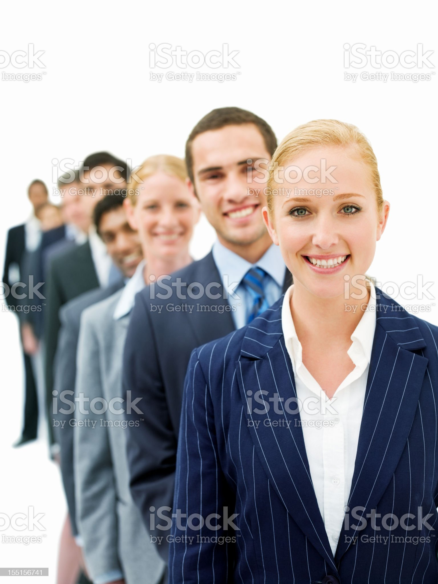 Businesspeople in a Line royalty-free stock photo