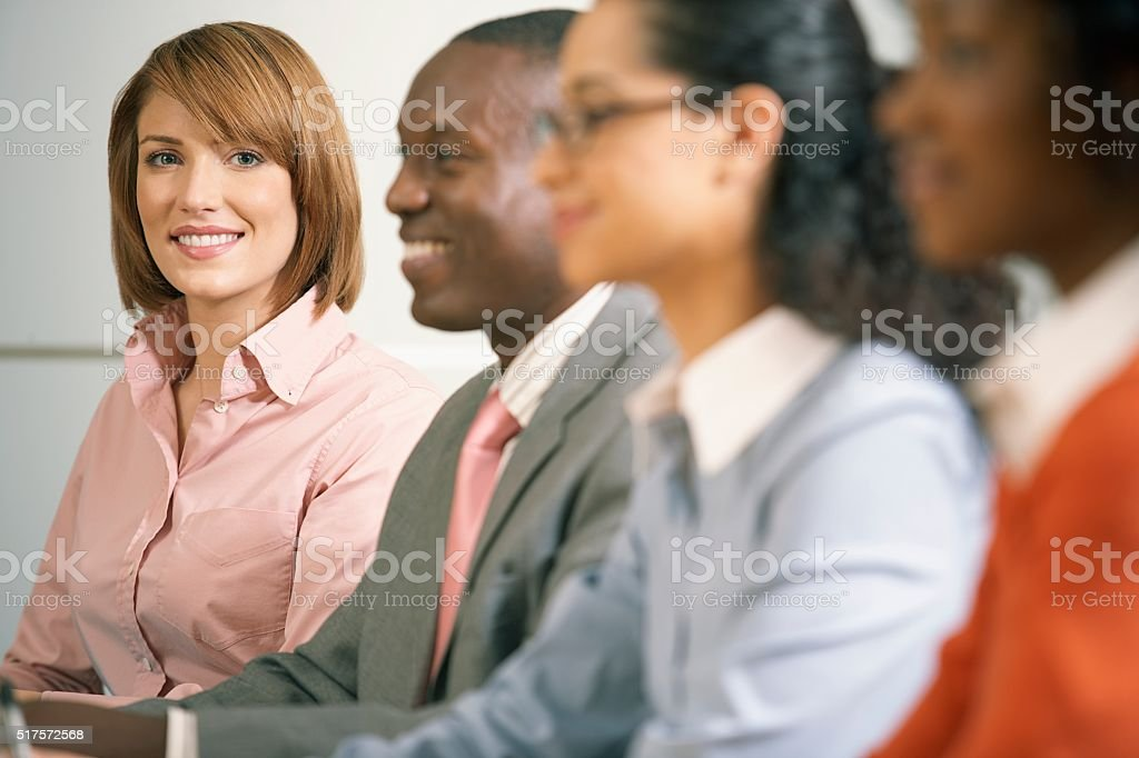 Businesspeople in a meeting stock photo